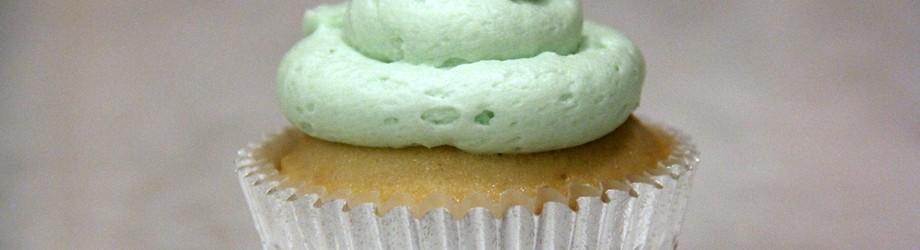 white cupcake, vanilla buttercream frosting.simplicity.