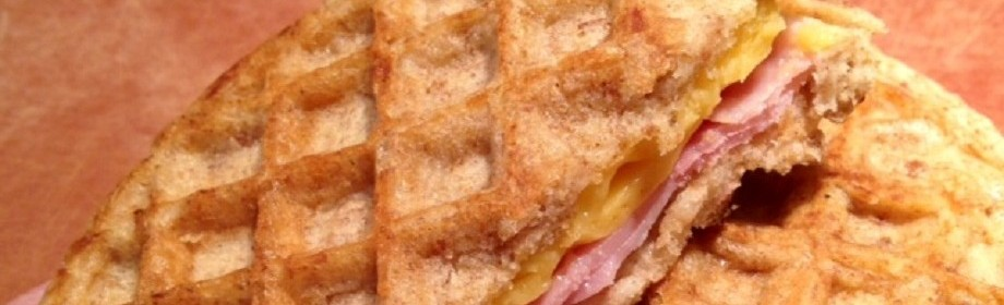 grilled waffle ham and cheese. yes please.