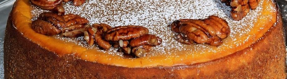 Pumpkin-Pecan Cheesecake.  Turkey DayDelight.