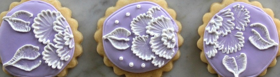 Embroidered Flower Sugar Cookies