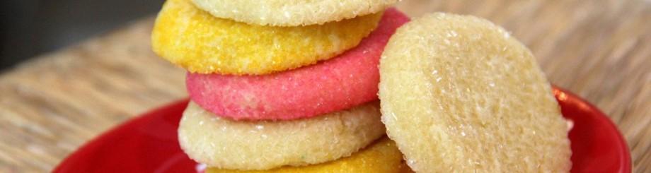 soft(ish) almond sugar cookies / minus the!!!!s